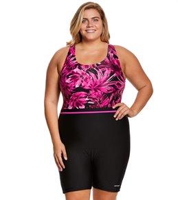 Waterpro Women's Plus Size Tropics Unitard