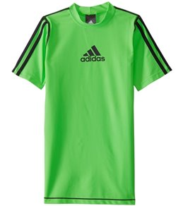 d65df0044838c Adidas Boys  Short Sleeve Swim Tee (Big ...