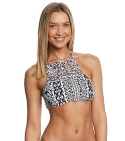 Coco Rave Playa It Cool Kora High Neck Halter Bikini Top