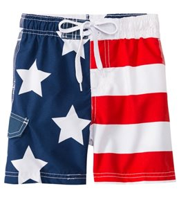 Kanu Surf Boys' Patriot Swim Trunks (2T-4T)
