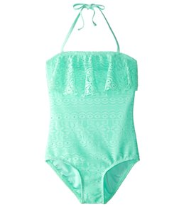 Gossip Girls' Gypsy Breeze Crochet One Piece Swimsuit (7-16)