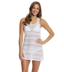 J.Valdi Circle Stripe Crochet Ring Tank Dress