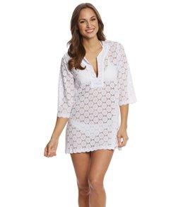 J.Valdi Circle Lace Kurta Cover up Dress