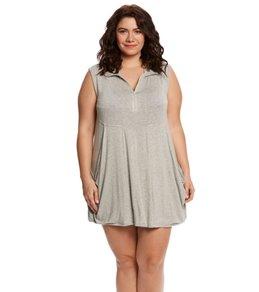 J.Valdi Plus Size Zip Front Dress