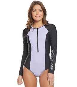 708db36b74ccd9 Volcom Simply Solid Long Sleeve One Piece Swimsuit
