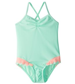 Hula Star Girls' Mermaid Scallops One Piece Swimsuit (2T-6X)