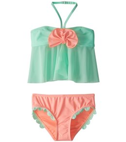 Hula Star Girls' Mermaid Scallops Tankini Set (2T-6X)