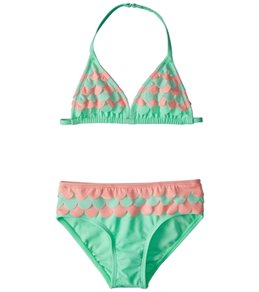 Hula Star Girls' Mermaid Scallops Bikini Set (2T-6X)