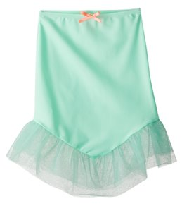 Hula Star Girls' Mermaid Scallops Cover Up Skirt