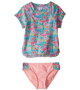 Hula Star Girls' Rose Tango Rashguard Set (2T-6X)