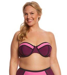 Paramour Plus Size Neo Colorblock Bralette Bikini Top