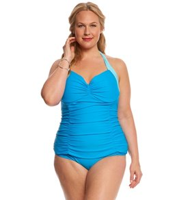 Paramour Plus Size Zanzibar Underwire One Piece Swimsuit