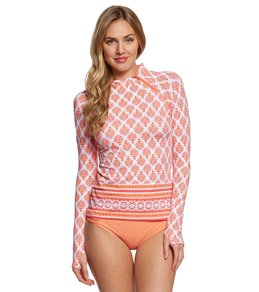 Cabana Life Nantucket Sound Zipper Rashguard