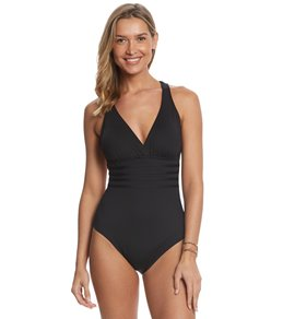 La Blanca Island Goddess Multi Strap Cross-Back One Piece Swimsuit