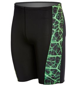 Sporti Polyester Shockwave Piped Splice Jammer Swimsuit