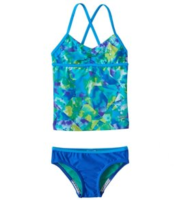 Speedo Girls' Tie Dye Sky Two Piece Tankini Set (7-16)