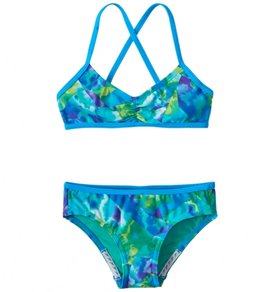 Speedo Girls' Tie Dye Sky Two Piece Bikini Set (7-16)