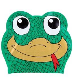 Sporti Cartoon Gecko Latex Swim Cap Jr.