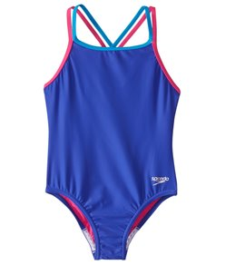 Speedo Girls' Crossback One Piece Swimsuit (7-16)