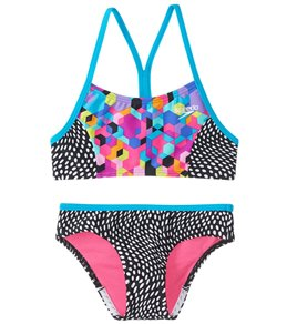 86e2b13d2d Speedo Girls' Splice Two Piece Bikini Set ...
