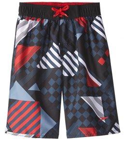 Speedo Boys' Checked Stripe Volley Short (4-20)