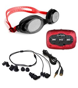 Underwater Audio SYRYN 8GB MP3 Player with Swimbuds Headphones and Goggle