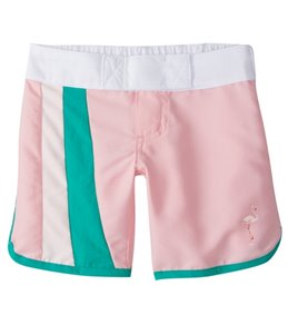 Platypus Australia Girls' Flamingo Dance Long Boardshort (18mos-8)