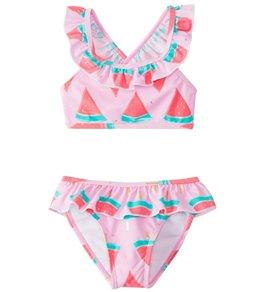 Snapper Rock Girls' Watermelon Ruffle Bikini Set (2T-10)