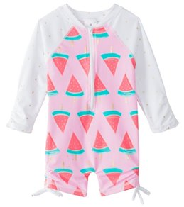 Snapper Rock Girls' Watermelon L/S One Piece Sunsuit (0mos-2T)