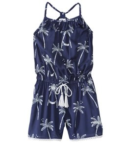 Snapper Rock Girls' Midnight Palm Romper (6-14)