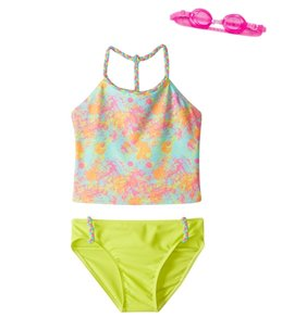 Jump N Splash Girls' Artist Tankini Set w/Free Goggles (7-14)