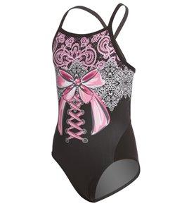 Slix Australia Girls' Bella Curve One Piece Swimsuit