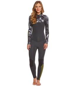 Billabong Women's 3/2mm Black Sands Surf Capsule Salty Dayz Chest Zip Full Suit Wetsuit