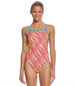 Speedo Flipturns Women's Rave Heart Propel Back One Piece Swimsuit