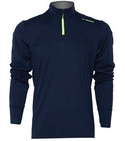 Strong-Willed Salomon Discovery Full-zip Long Sleeve Mens Running Top Blue Men's Clothing