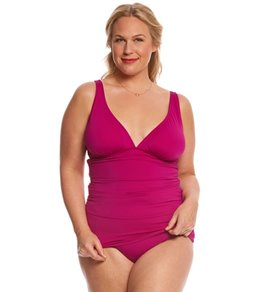 Tommy Bahama Plus Size Long Tankini Top