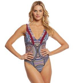 92861d9bdb03 Red Carter Tribal Daze V-Neck One Piece Swimsuit