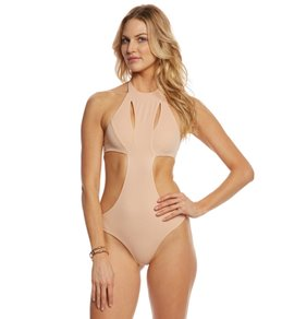 Indah Bourbon Slash Front One Piece Swimsuit
