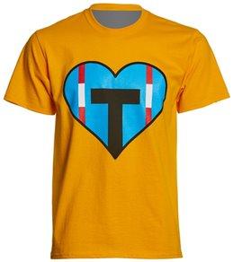AMBRO Manufacturing Unisex Heart Swim Team T Shirt