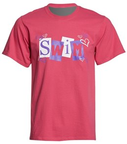 AMBRO Manufacturing Unisex Swim Hearts Surround T Shirt