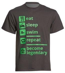 AMBRO Manufacturing Unisex Eat Sleep Swim T Shirt