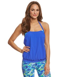 Profile by Gottex Pacific Blue Double Up Tankini Top