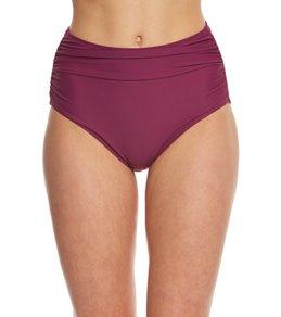 Betsey Johnson Malibu Solid High Waist Bikini Bottom