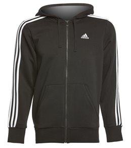 Adidas Outdoor Men's Essential 3S Full Zip Hoodie Sweatshirt