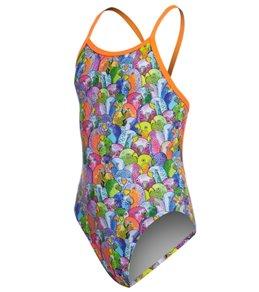 Funkita Girls' Bang Bang Budgie Single Strap One Piece Swimsuit