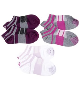 Asics Women's Quick Lyte Single Tab 3 Pack Socks
