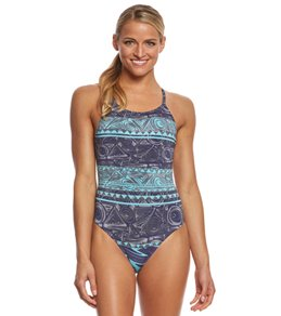 fabiola molina Women's Tropical Paradise One Piece Swimsuit