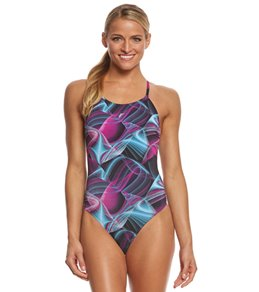 fabiola molina Women's Electric Swirl One Piece Swimsuit