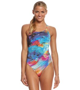 fabiola molina Women's Rainbow Galaxy One Piece Swimsuit