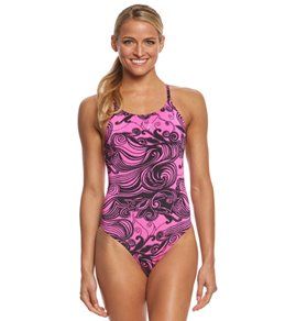 fabiola molina Women's Aloha Pink One Piece Swimsuit